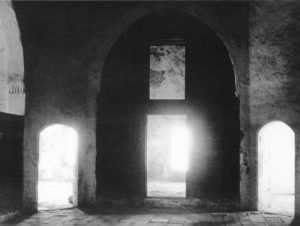 A view of some of the cells that were occupied by the exiles in Akka. The room of Bahá'u'lláh is on the left.
